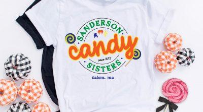 Free Sanderson Sisters SVG File on DIY Hocus Pocus Shirt