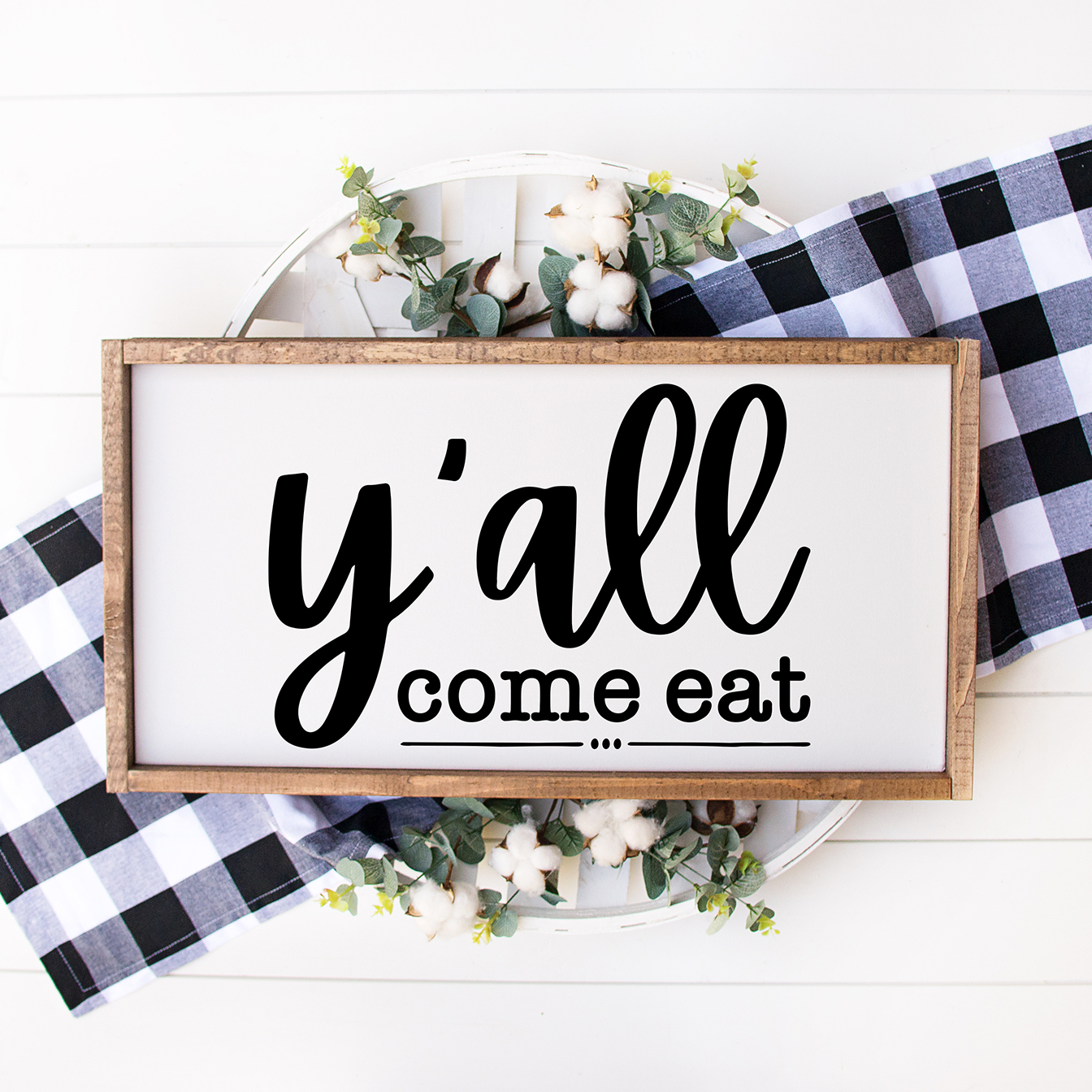y'all come eat diy wooden farmhouse kitchen sign