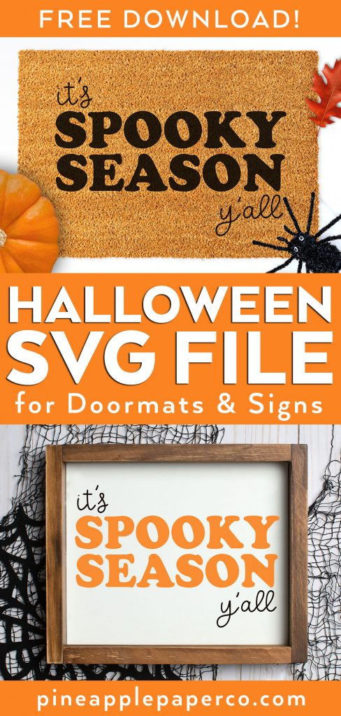 Free Halloween SVG File to make a DIY Halloween Doormat or Sign