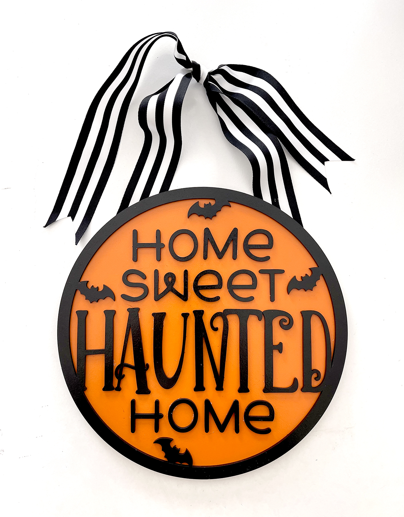 DIY Wooden Halloween Sign with Free Home Sweet Haunted Home SVG File