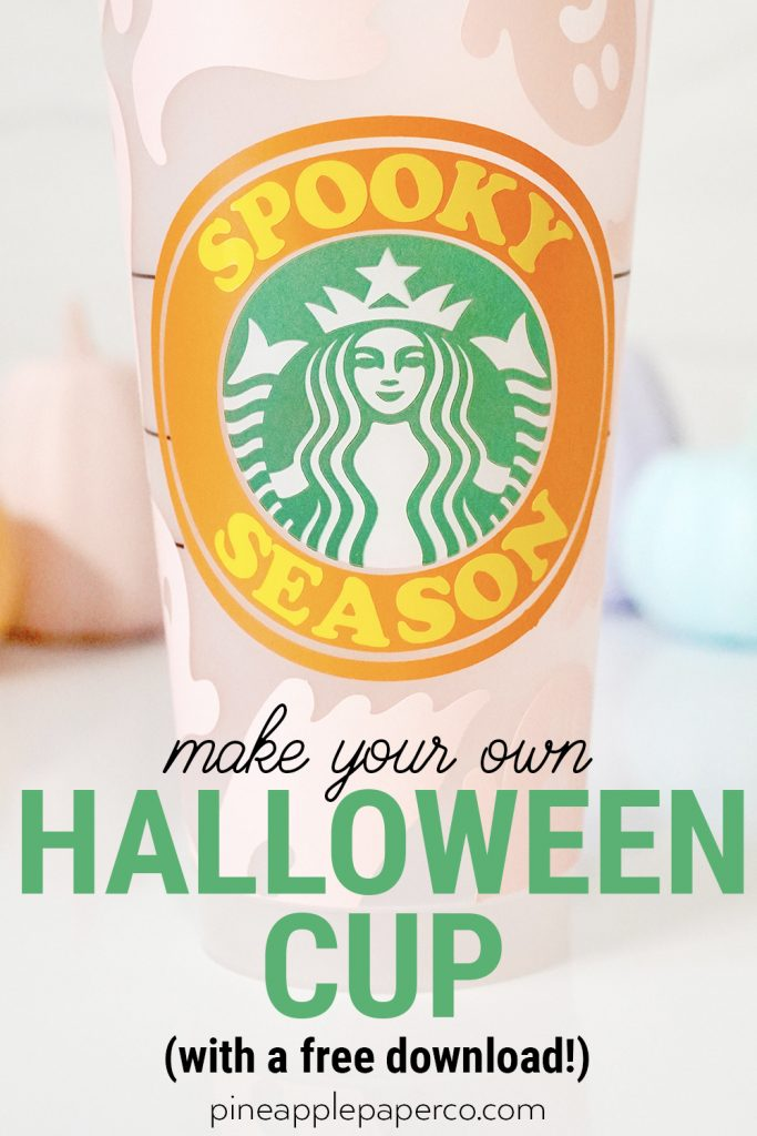 DIY Spooky Season Halloween Starbucks Cold Cup with Free SVG