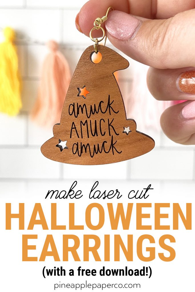 Make Your Own Laser Cut Halloween Earrings with Free SVG file