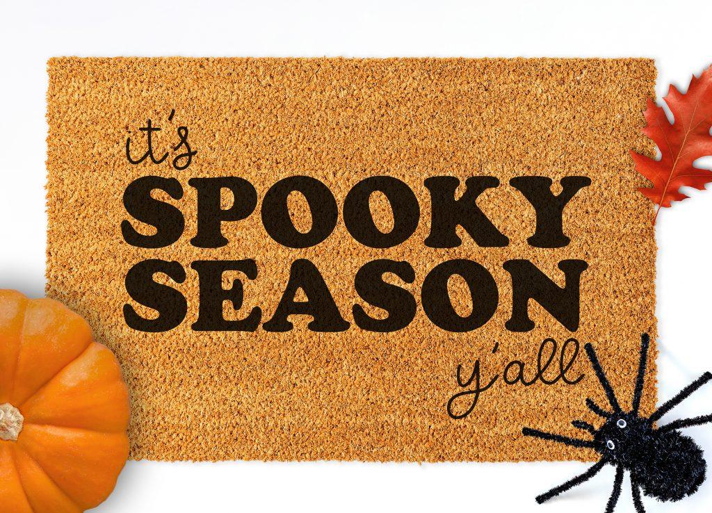 Free Halloween Doormat SVG on It's Spooky Season Y'all Halloween Doormat