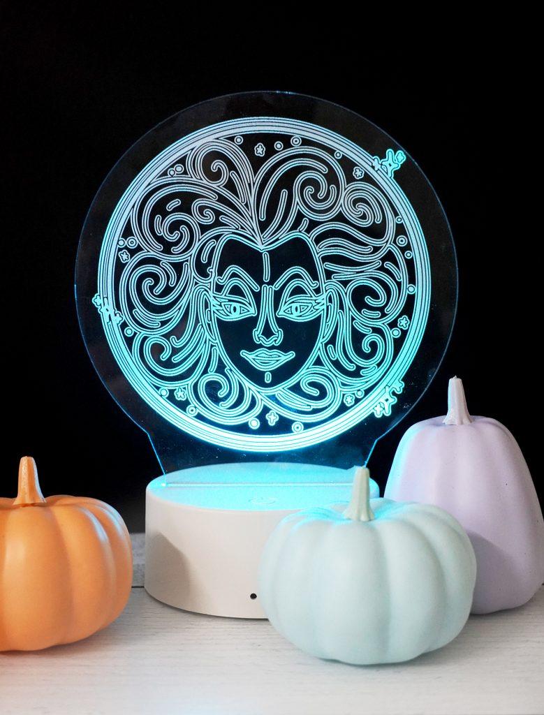 DIY Madame Leota Acrylic Nightlight for Halloween with Free SVG