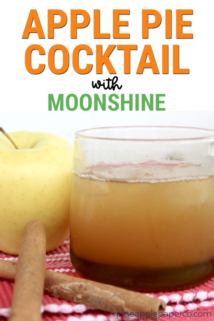 Apple Pie Moonshine Cocktail that is easy to make and perfect for fall and Thanksgiving