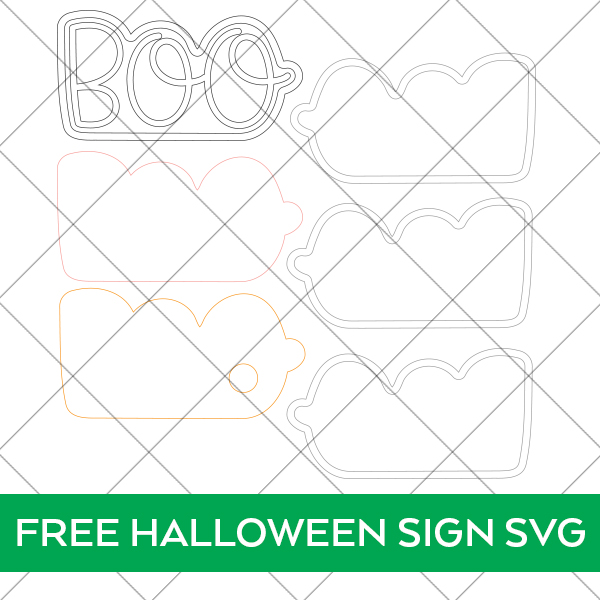 Free Halloween Sign SVG for LED Lighted Halloween SIgn
