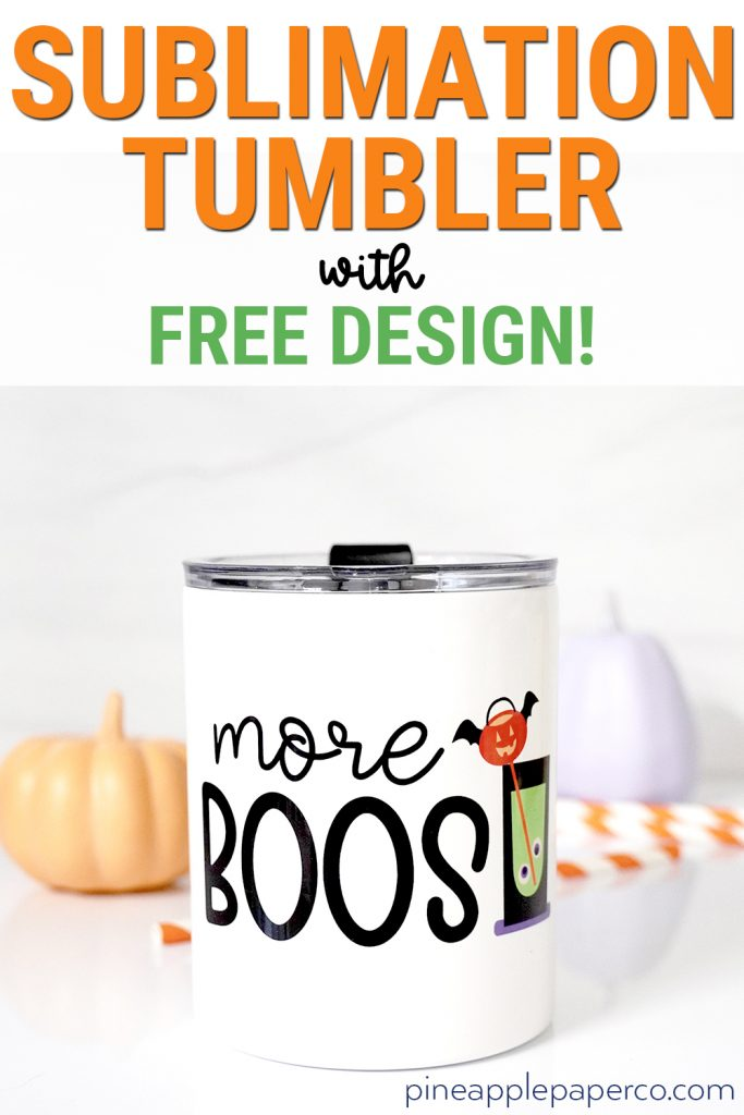 Halloween Sublimation Tumbler with Free PNG Download