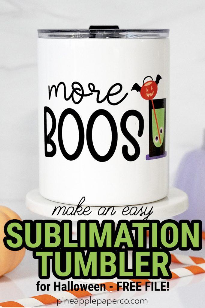 easy sublimation tumbler with cricut mug press and free design
