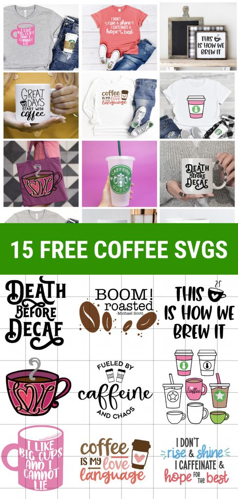 15+ Free Coffee SVG Files with project samples and svg files behind grid