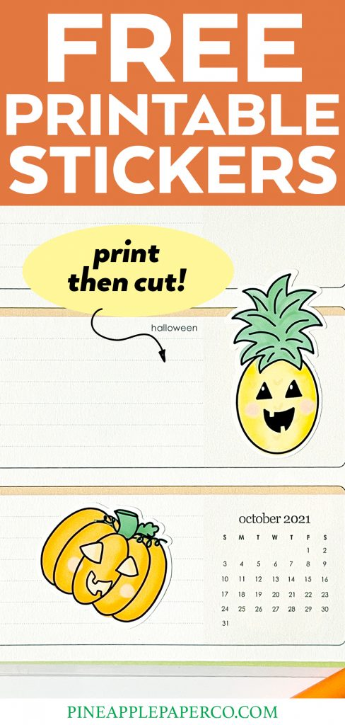 Free Printable Halloween Stickers that are cute and easy to make