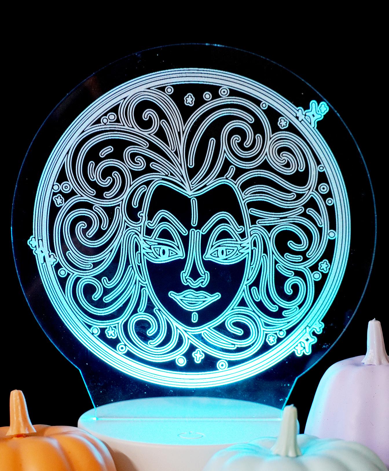 Glowing Acrylic Nightlight with Madame leota Free SVG File