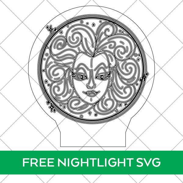 Madame Leota SVG File for Glowforge Acrylic Night Light