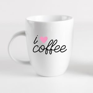 I Love coffee Mug made with Free Coffee Cup svg file