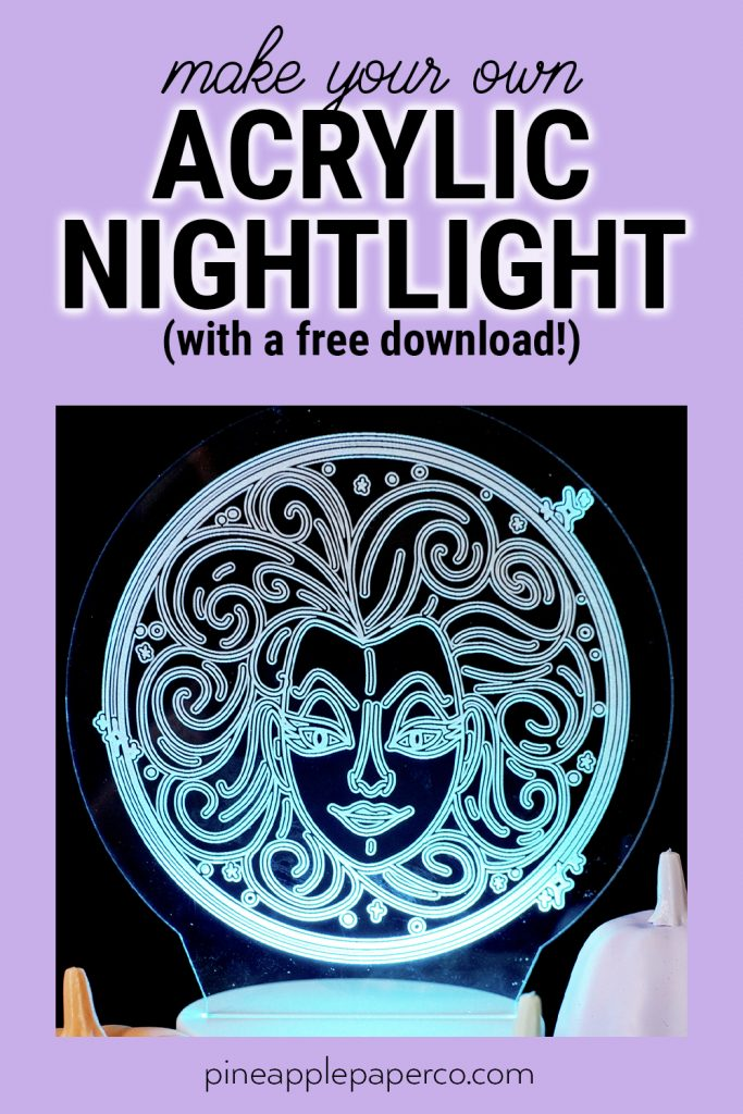 Make your own haunted mansion acrylic nightlight with a glowforge and free svg file