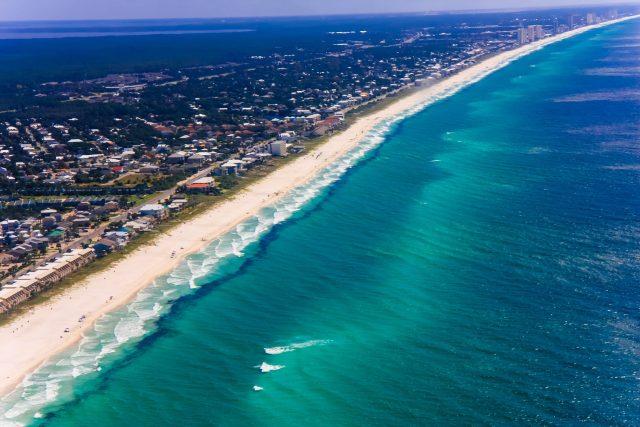 PCB Beach Aerial