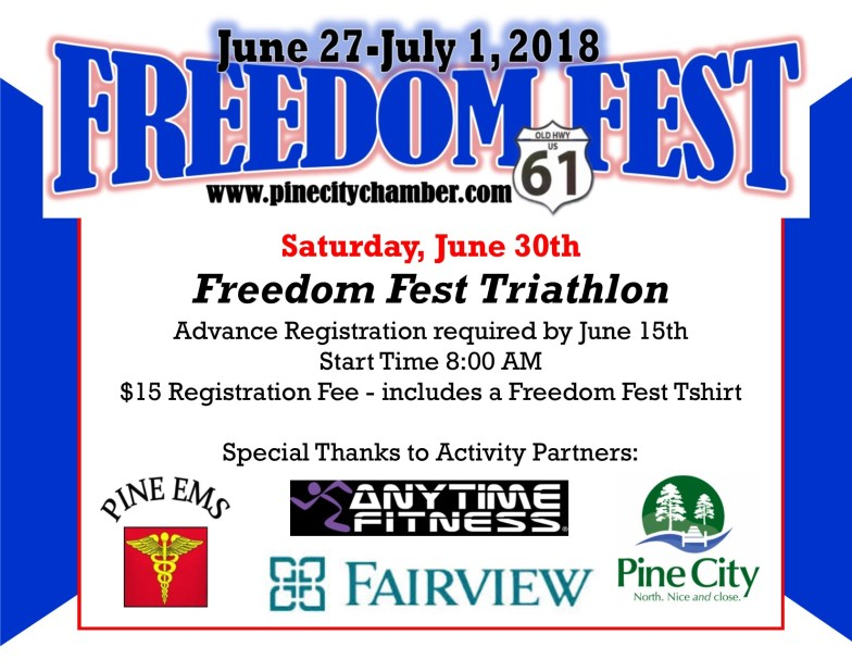 Promotional flyer for June 30th Triathlon