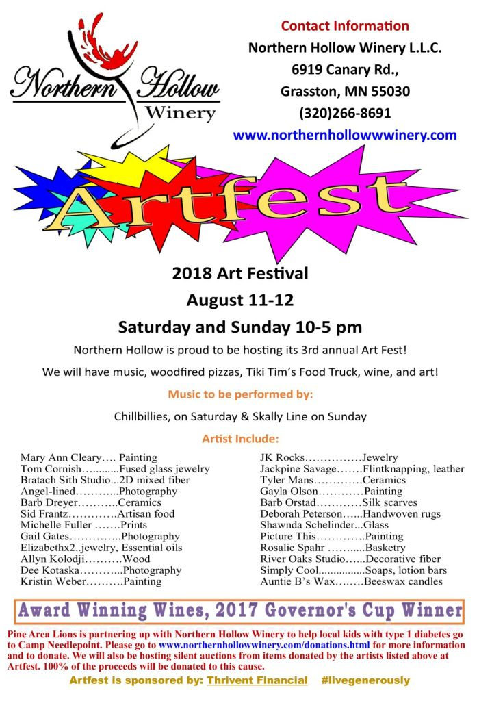 ArtFest event hosted by Northern Hollow Winery