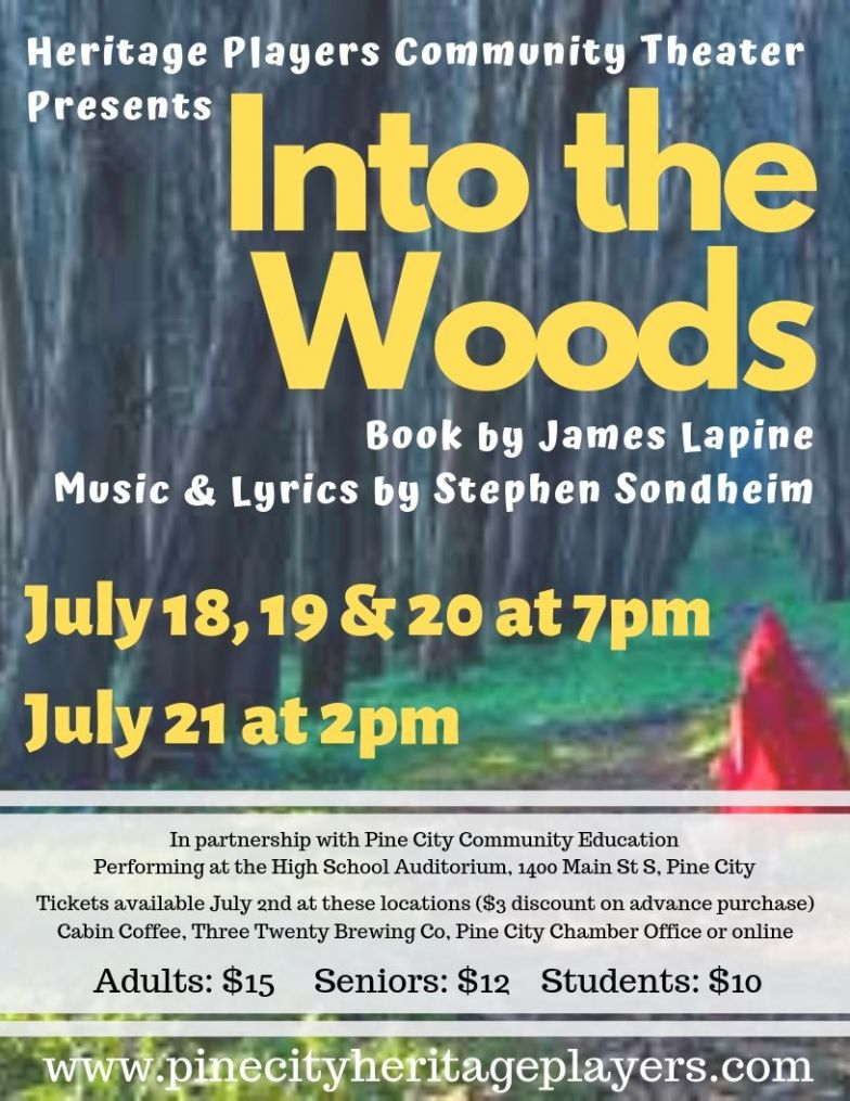 """Promotional Flyer for """"Into the Woods"""""""