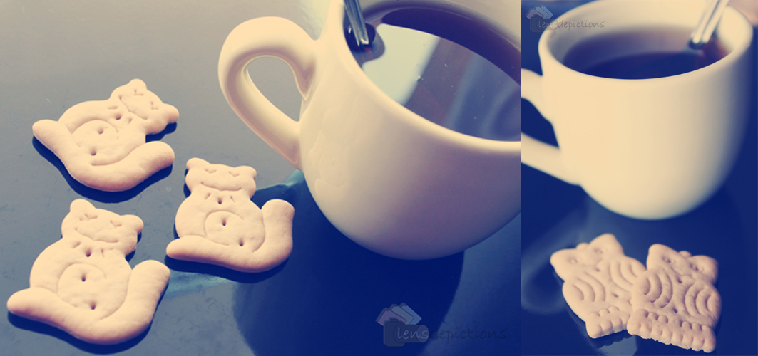 Animal cookies & a cup of tea!