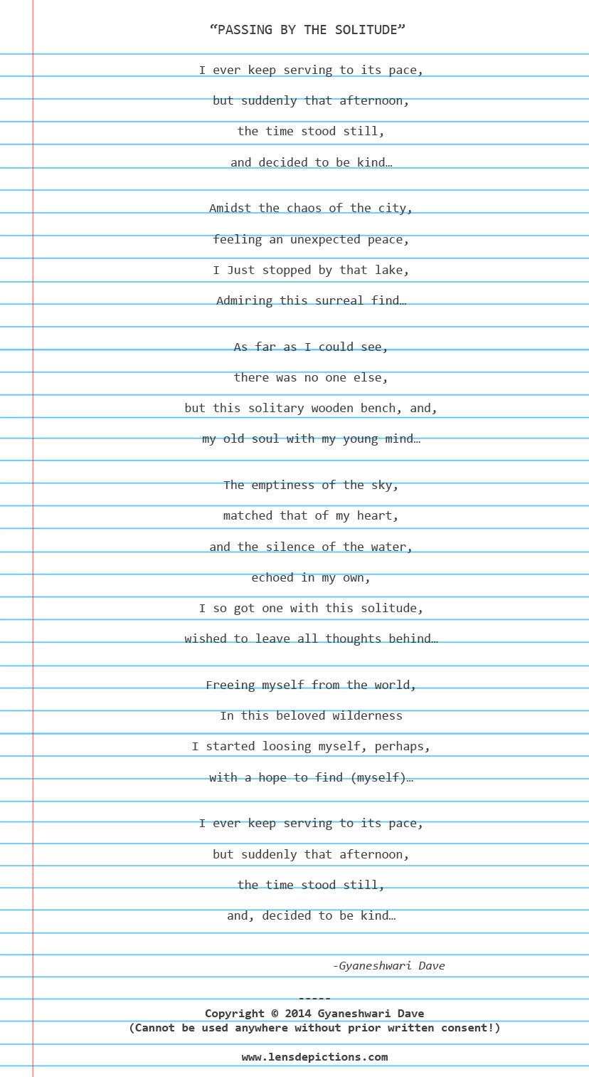 Copyrighted-solitude-poem-Lensdepictions