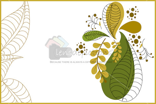 Stock vector background of autumn leaves fall greetings.