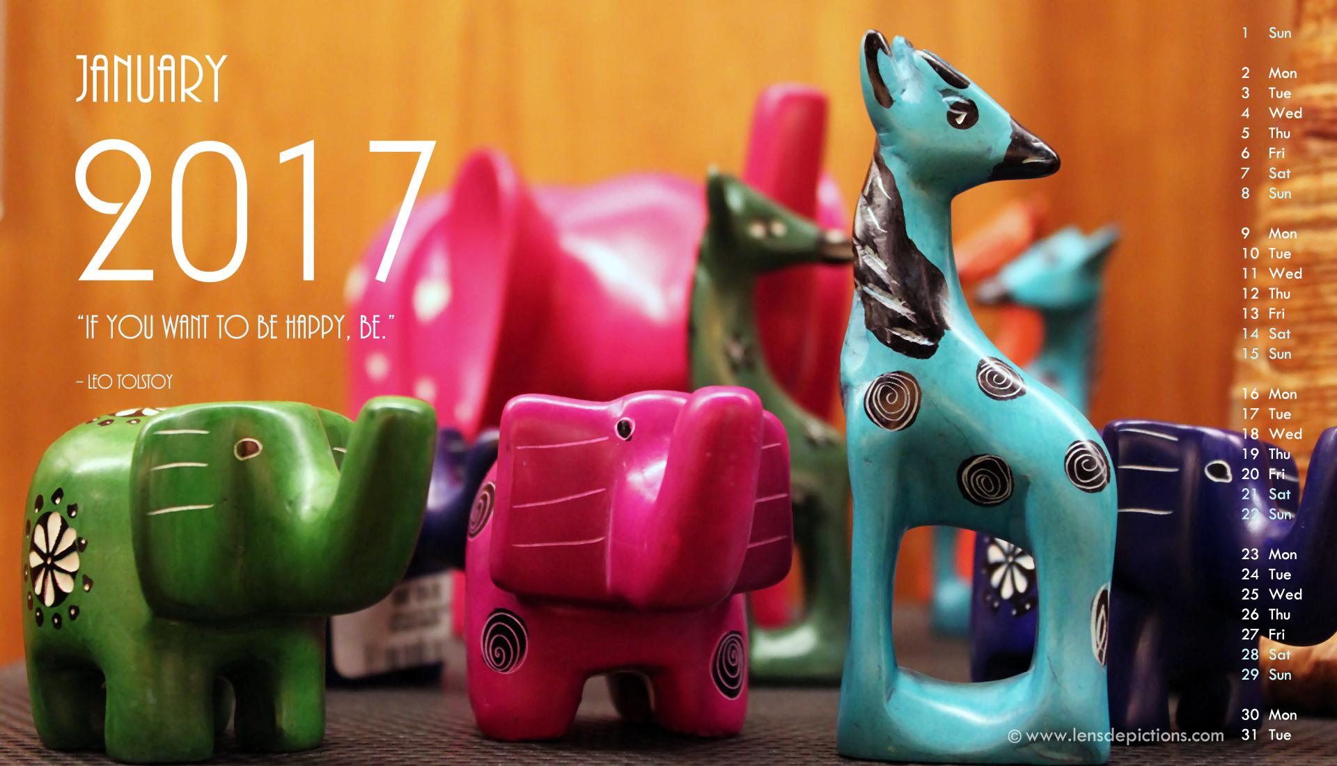 Celebrating folk art of Kenya + Jan 2017 Free Calendar Wallpapers!
