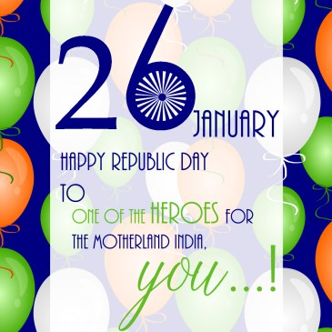 Republic Day of India Wish – A Banner