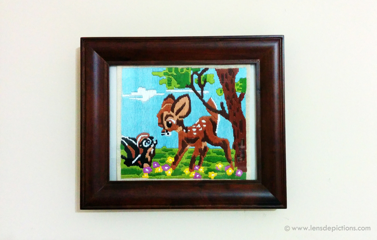 Deer & Squirrel – A Stitched Wall-Art!