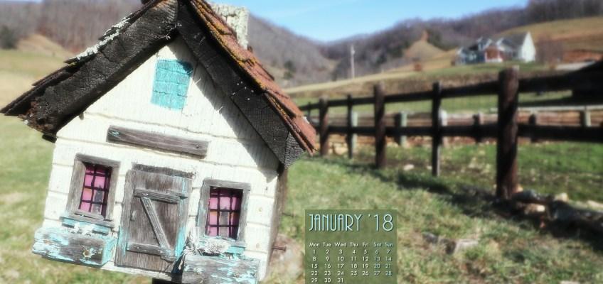 Jan 2018 Free Desktop Calendar Wallpaper