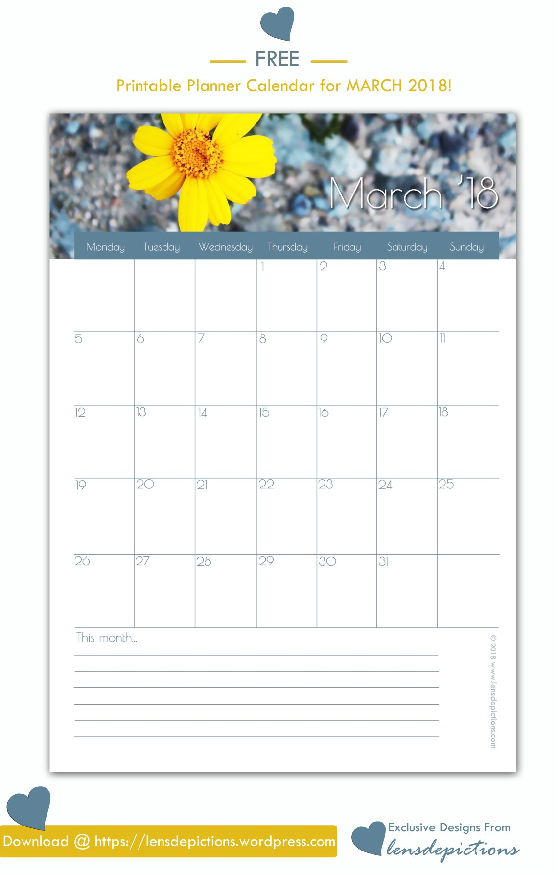 PrintableMonthlyCalendar_Banner_March2018