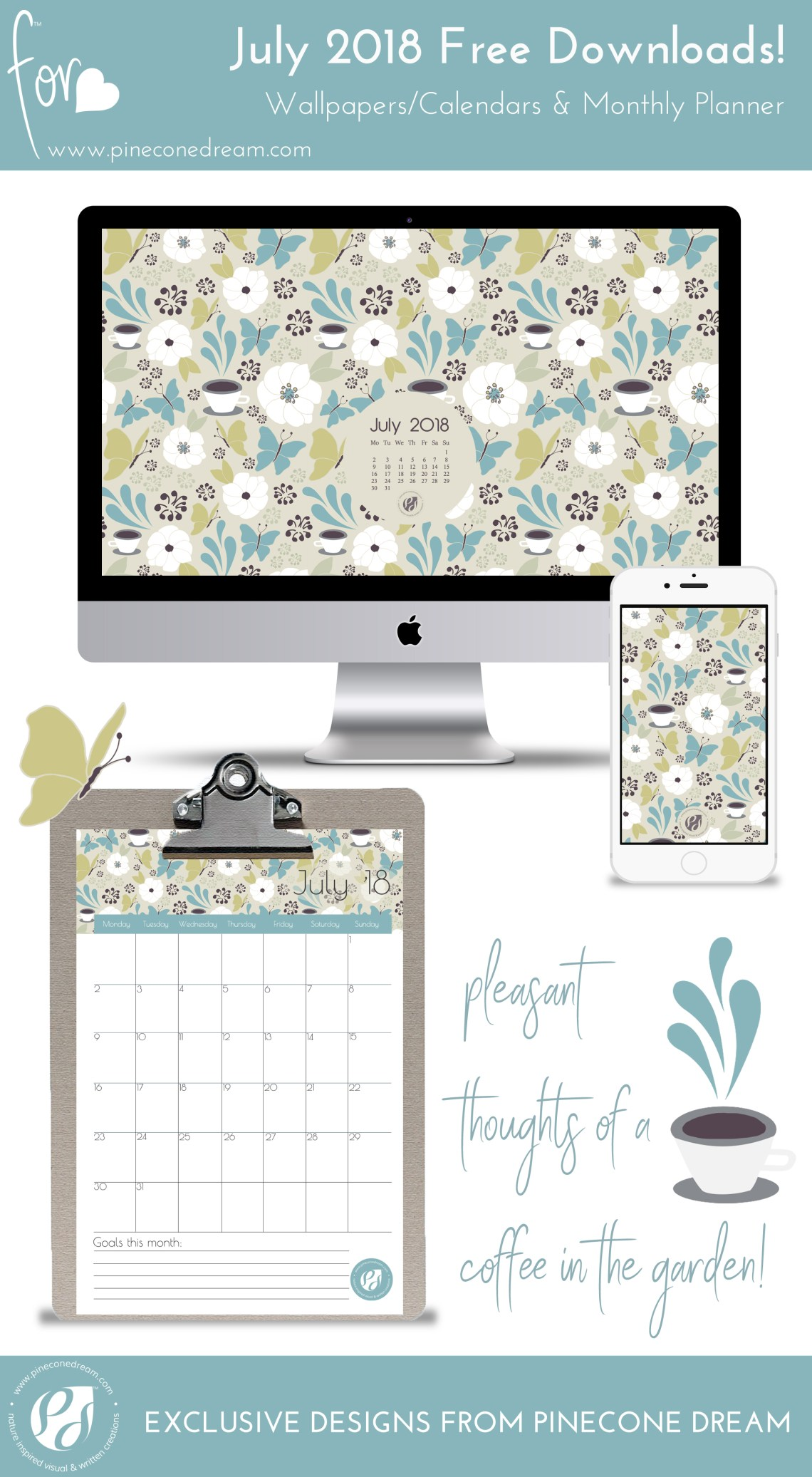 Wallpapers&Calendars_July2018_Pineconedream7