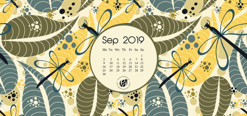 September 2019 desktop calendar wallpaper free