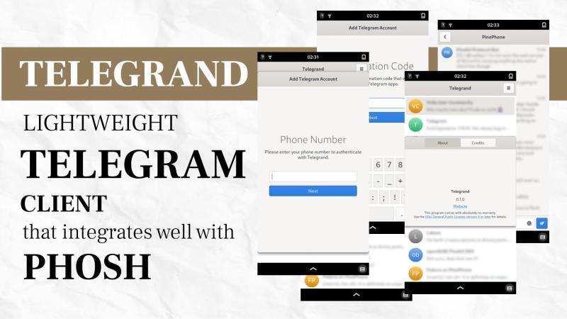 Telegrand - a lightweight Telegram client that integrates well with Phosh