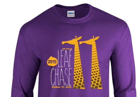 Chase those leafs ! Its the 11th running of the Leaf Chase (hence the double giraffe necks).