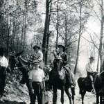 Marguerite Butler (left) on mule. X_099_workers_2501_mod.jpg