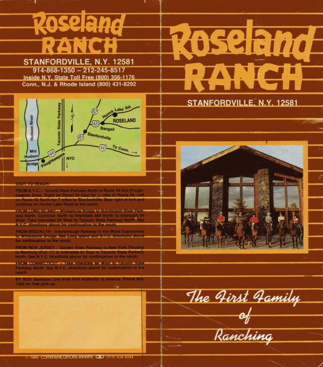 Roseland Ranch Brochure 1991 - 1992 00001