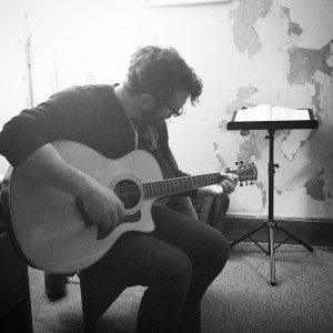"""Gracing the studio with his strong vocal performing """"One Heart"""". Eric is a talented singer/songwriter residing in the Pocono Mountains."""