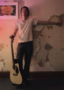 Kris P doing his photo shoot at Pinetop Recording Studio.