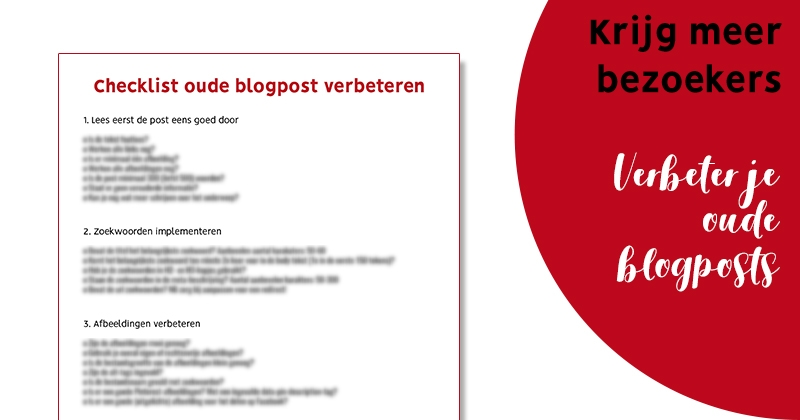 oude blog berichten optimaliseren facebook