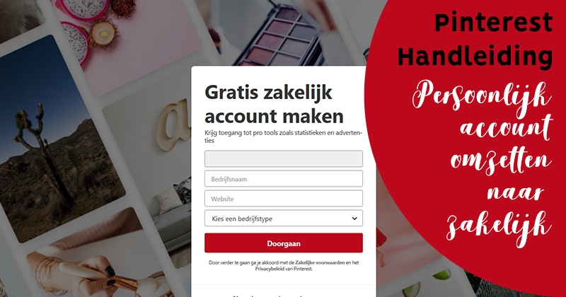 pinterest zakelijk account facebook