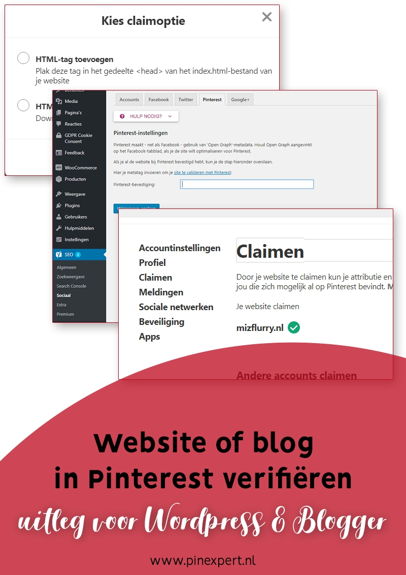website blog verifieren pinterest