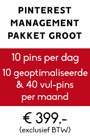 Pinterest management pakket groot