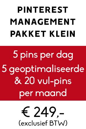 Pinterest management pakket klein