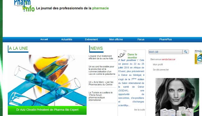 Journal des professionnels de la pharmacie en Tunisie