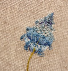 Embroidered bluebell