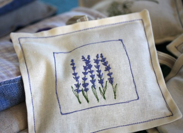 Embroidered Lavender bag