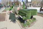 A working grass piano