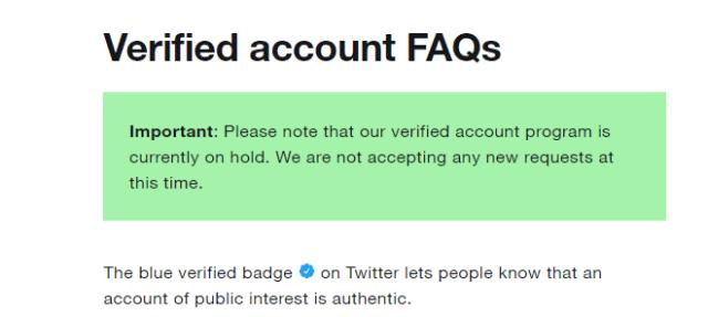 Cara verifikasi akun Twitter
