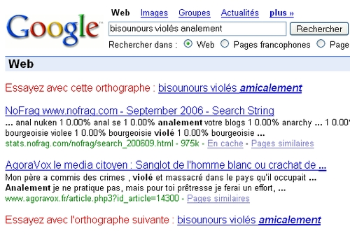 Google bisounours violés analement