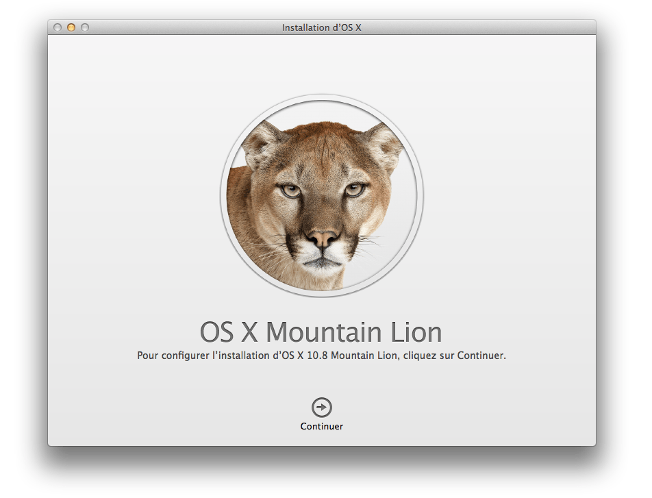 mountain lion installation